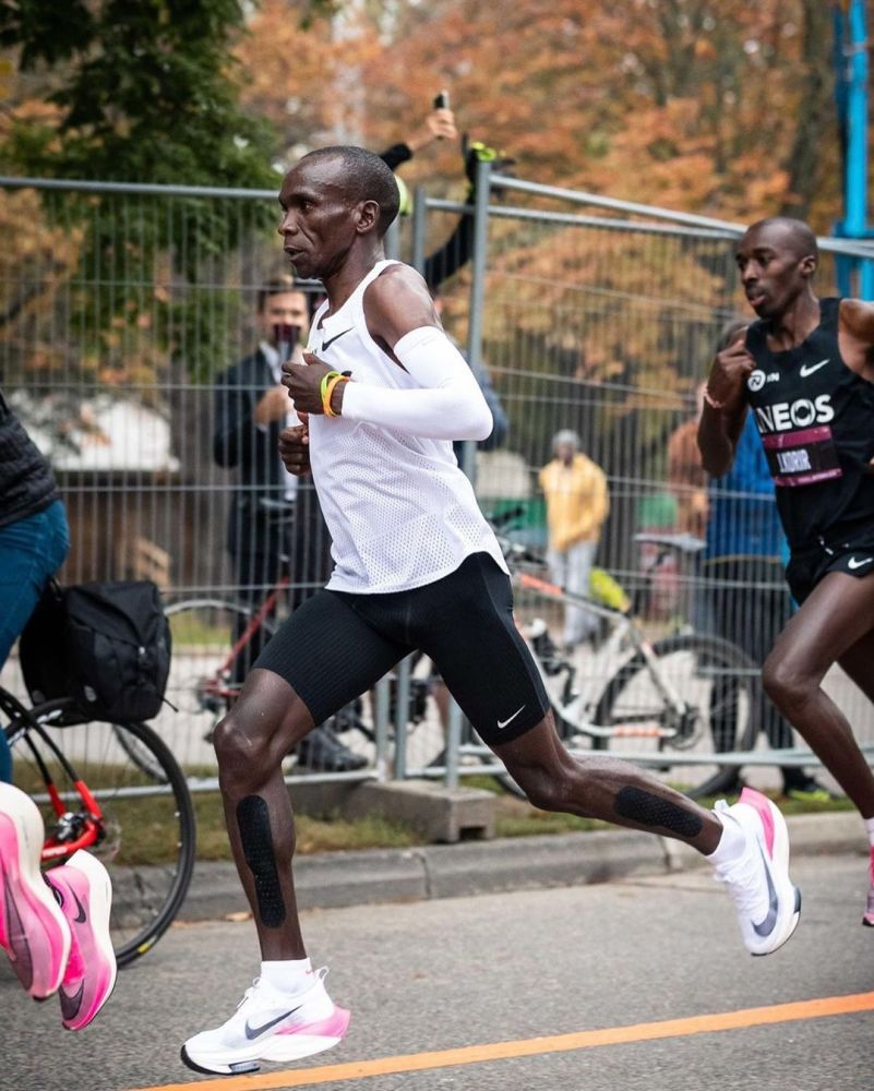 Eliud Kipchoge faced the challenge of covering the marathon distance