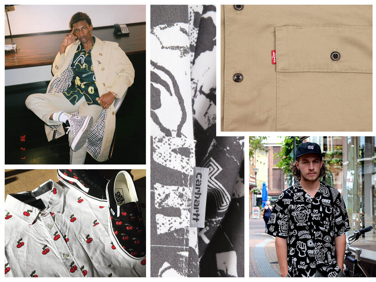 Shirts from top streetwear producers